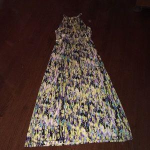 Multicolored maxi-dress
